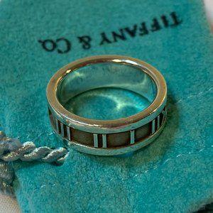 Tiffany Silver Roman Numerals Atlas Ring 5.5